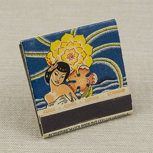 TAC/Balinese Room Matchbook (angled view)