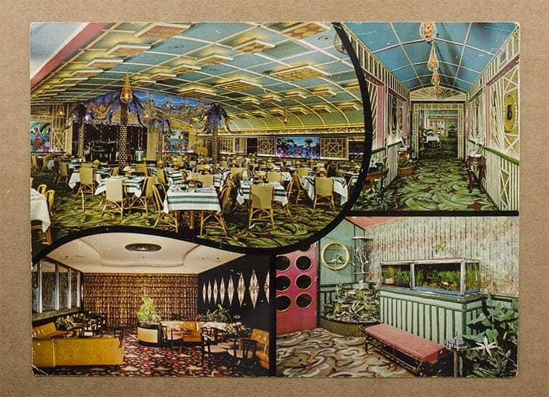 """Balinese Room, Galveston, Texas"" Postcard (front of card)"