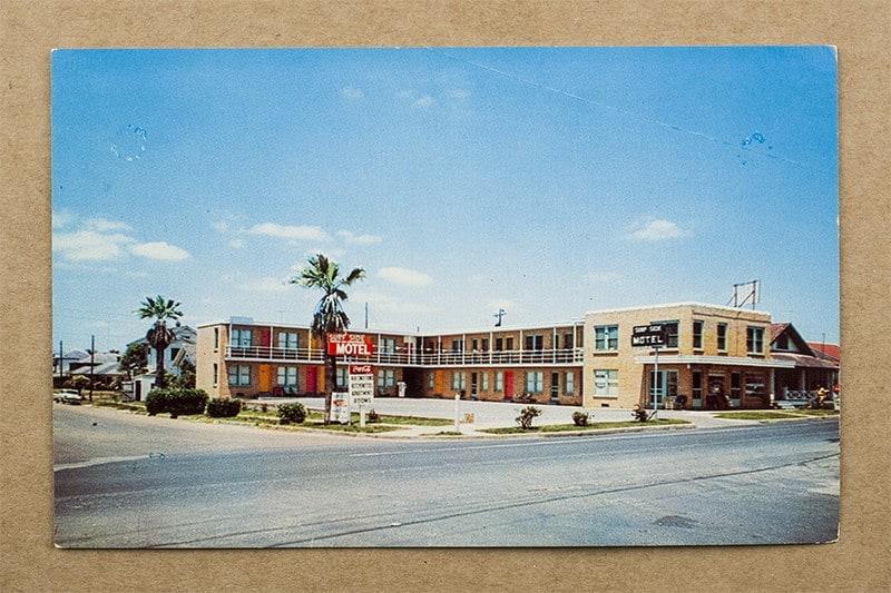 """""""Surf Side Motel"""" Postcard (front of card)"""