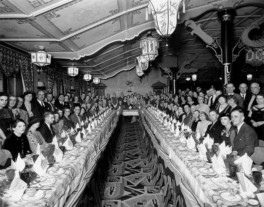 Pilot's Association Banquet at the Sui Jen Cafe (c. 1935)