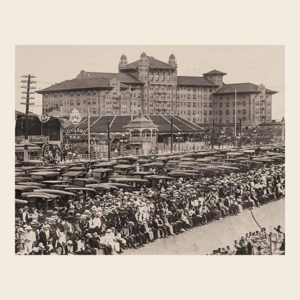 Hotel Galvez and Joyland Park (calendar image)