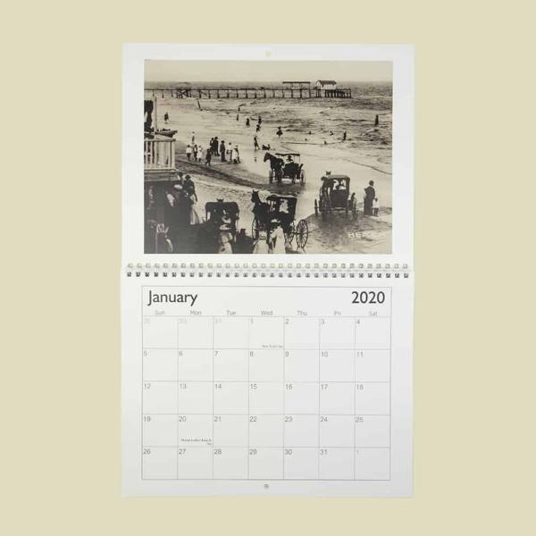 2020 Classic Wall Calendar (open)