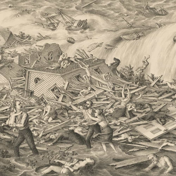 Galveston's Awful Calamity Canvas Print (detail)