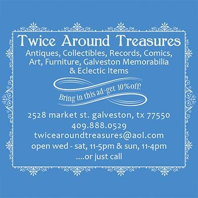 Twice Around Treasures advertisement